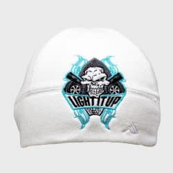 372acc7c90b12b Light It Up Teal and White Beanie