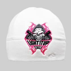 beee630f2c52e8 Light It Up Pink and White Beanie