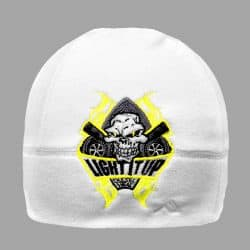 93bf669d36db71 Light It Up Yellow and White Beanie