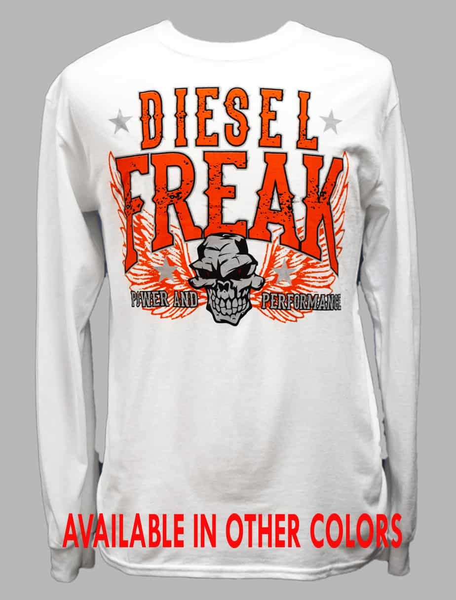 54231b6ef Orange Power White Long Sleeve - Diesel Freak